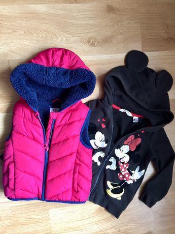 Kamizelka bluza ZESTAW Mickey Disney  3-4 lata 110 dziewczynka jesień