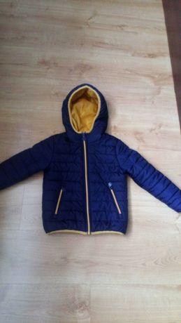 Granatowa kurtka pikowana 116