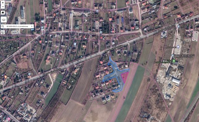 Działka budowlana w Kole przy ul Wiśniowej Wiśniowa Czereśniowa