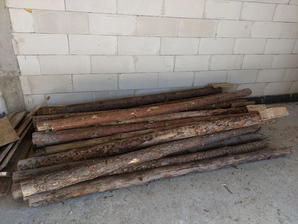 Stemple budowlane drewniane dł. ok. 2,90