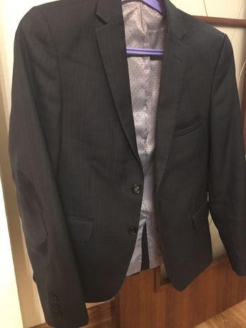 Пиджак школьный, гимназия с вставками на локтях