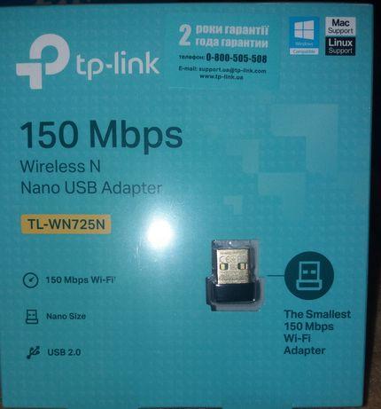 Беспроводной нано USB WiFi адаптер tp-link tl-wn725n