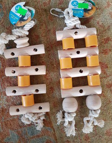 Zabawki dla średnich i dużych papug nowe okazja