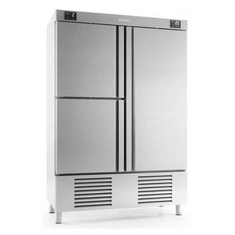 frigorífico industrial vertical duplo - troca por mota