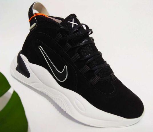 Мужские кроссовки нубуковые черные Nike Air