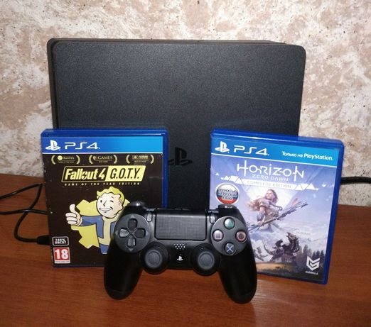 Playstation 4 Slim 500 gb Black+dualshock 4