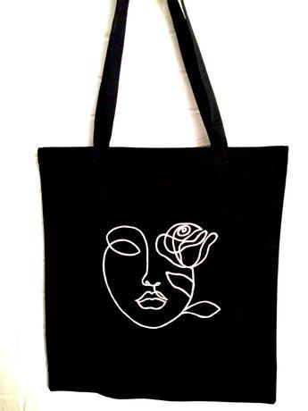 Bawełniana torba ręcznie malowana