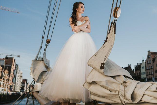 """Sprzedam suknię ślubną Księżniczkę """"różowa"""" GRATIS welon"""
