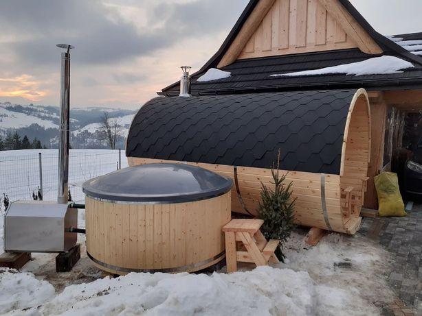 Sauna Beczka Balia Kąpielowa Bania Ruska Basen Ogrodowy Hot Tub