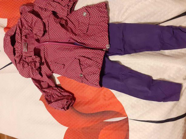 Śliczny fioletowy płaszczyk przejściówka na wiosnę 98-104 GRATIS getry