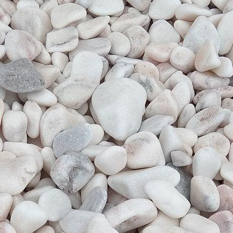 Otoczak marmur biało-różowy