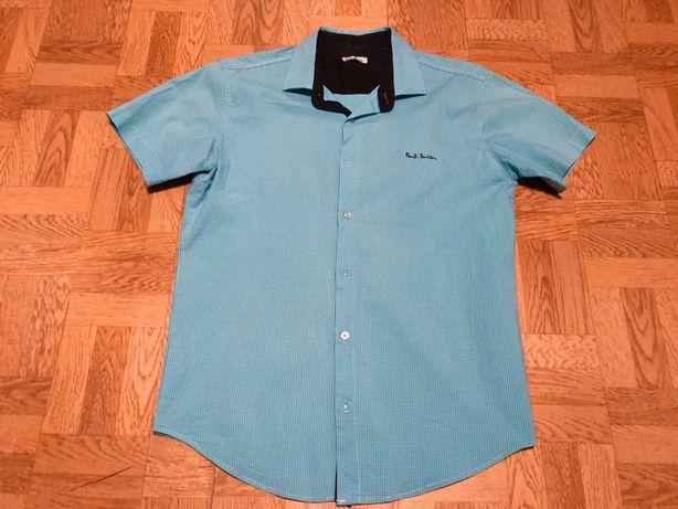 Голубая (бирюзовая) рубашка Paul Smith с коротким рукавом
