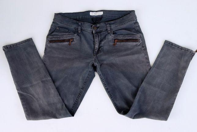 Damskie, elastyczne spodnie jeansy szare ABBEY W31 Slim