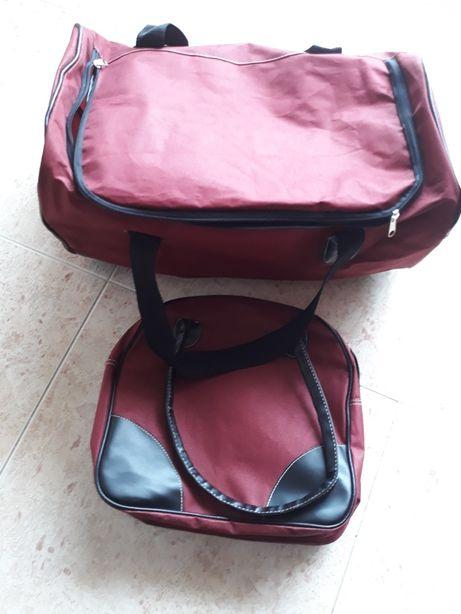 Conjunto saco viagem + mochila/necessaire