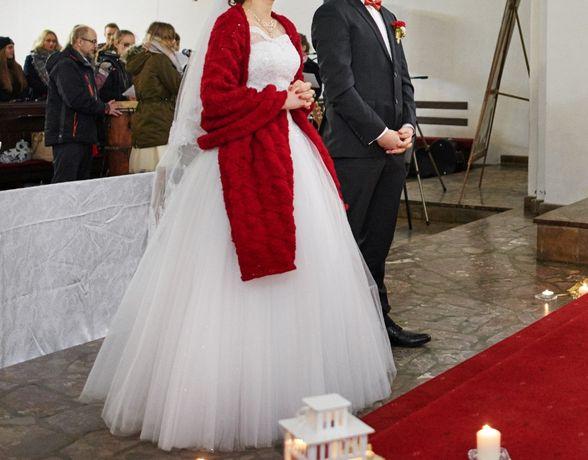 Piękna suknia ślubna 170cm - rozmiar 36/38/40