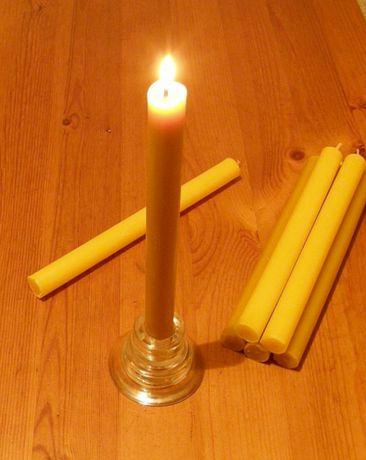 Свеча восковая ручная работа