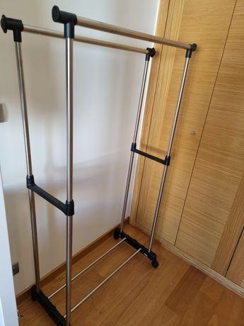 Charriot duplo altura ajustável com prateleira