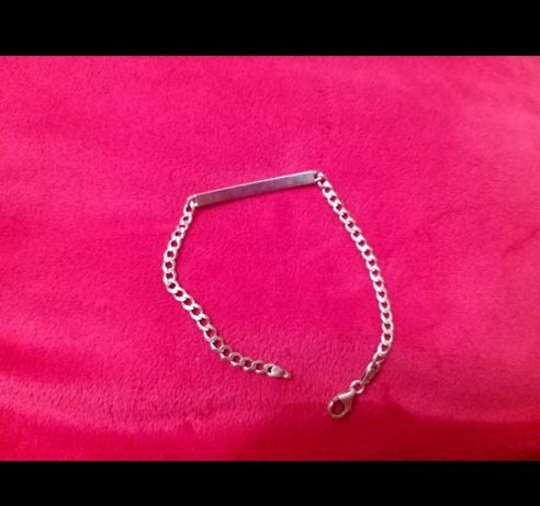 Bransoletka pancerka srebrna 925 blaszka dł 20 cm x 0,4mm