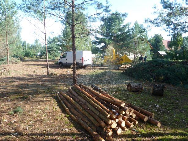 Usługi rębakiem Frezowanie Wycinka drzew