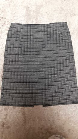 Женская юбка серая в клеточку