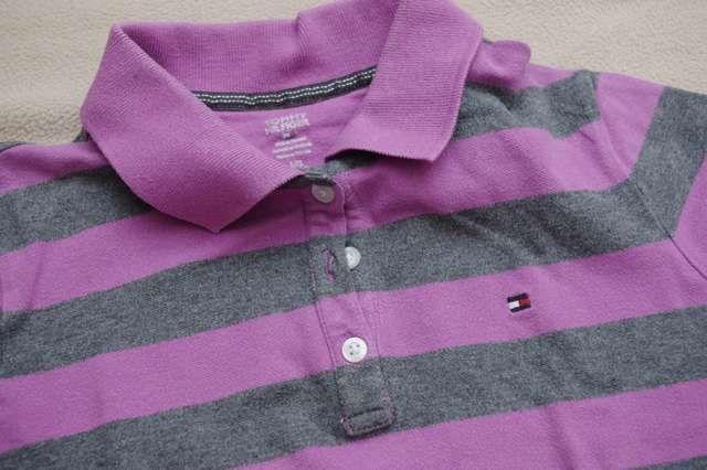 Tommy Hilfiger koszulka polo paski pasy 12 14 lat 158 bluzka