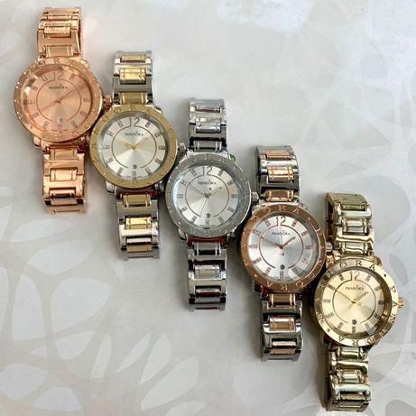 Часы женские в стиле пандора pandora серебро розовое золото комбинация