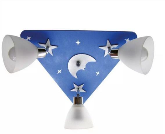 Marwom Księżyc Niebieski K3Z1N Lampa dziecięca niebieska księżyc