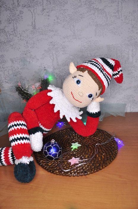 Подарок детям, вязанная игрушка, амигуруми - Эльф Николаев - изображение 1