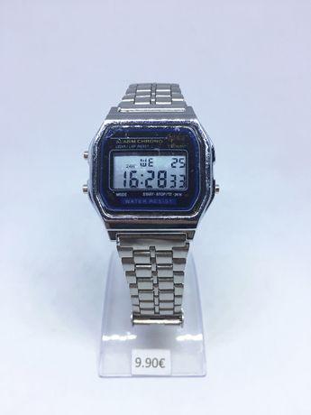 Relógio com bracelete em metal - Relógio Vintage / Estilo Casio - Novo