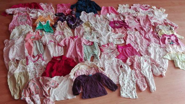 Wyprawka paka ubrań zestaw dla dziewczynki 56/62/68