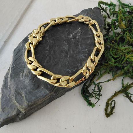 Złota bransoletka Figaro, złoto 585