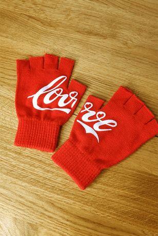 Rękawiczki mitenki czerwone Coca-Cola Love