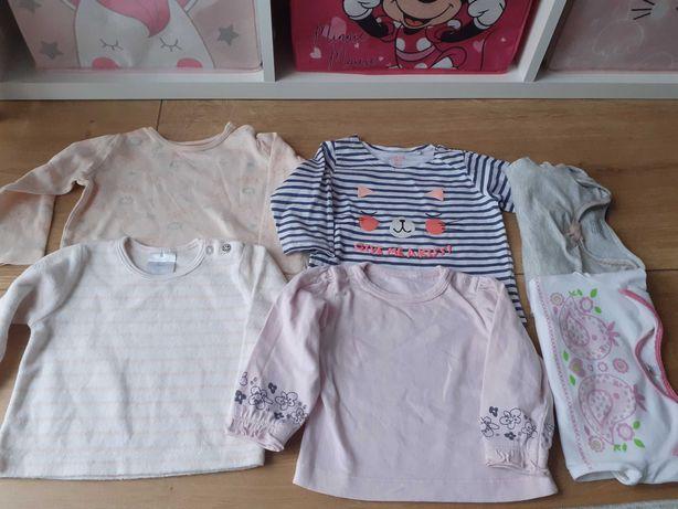 Bluzki,bluzeczki,62,paczka,zestaw