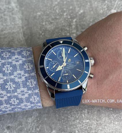 Часы мужские  синие наручные Breitling Blue-Silver