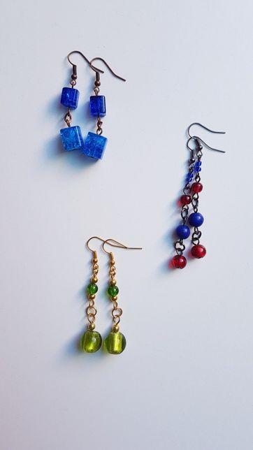 Kolczyki / biżuteria artystyczna / różne kolory i wzory