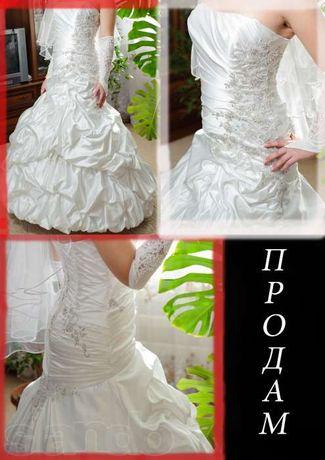 Шикарное Свадебное платье со шлейфом свадьба сукня весільна