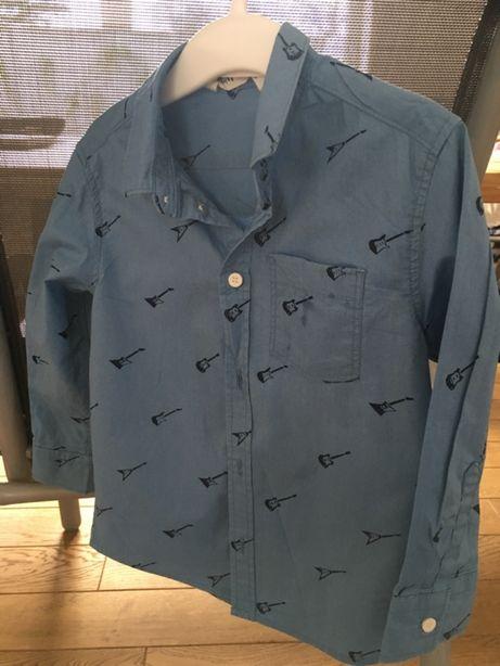 H&M Koszula 98cm, błękitna.