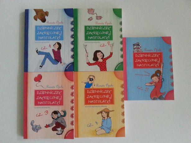 Seria 5 książek- Dzienniczek zakręconej nastolatki Renaty Opali