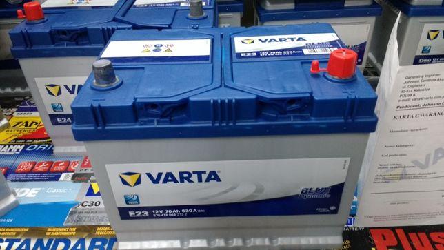 Akumulator Varta Blue 12V 70Ah 630A E23 Mazda Toyota montaż Kraków