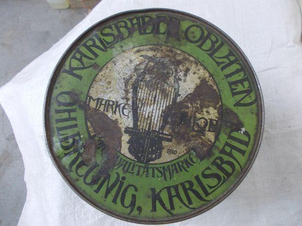 Przedwojenna Niemiecka puszka metalowa