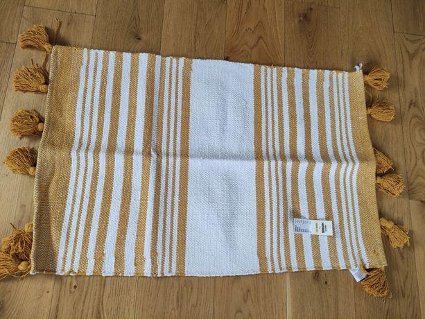 Nowy dywanik biało-żółty 90x60