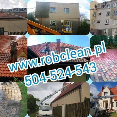 Mycie malowanie elewacji, mycie dachów i kostki brukowej Robclean