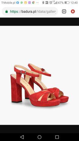 Sprzedam czerwone sandaly 39