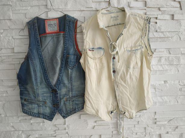 Esprit ,Repley kamizelki z jeansu na lato L