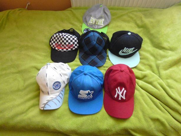Zestaw 7 czapek z daszkiem firmowe Nike New York New Era Starter
