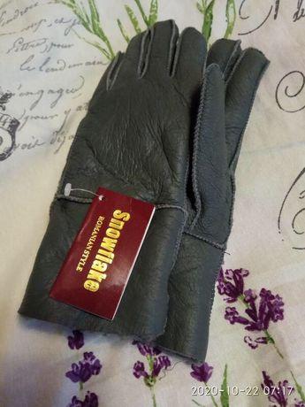 Кожаные перчатки, выворотка