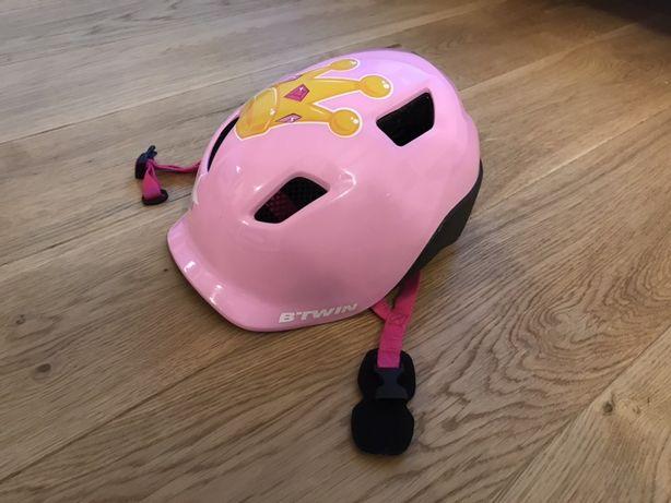 Kask btwin decathlon dla dziewczynki na rower rolki 53-56cm