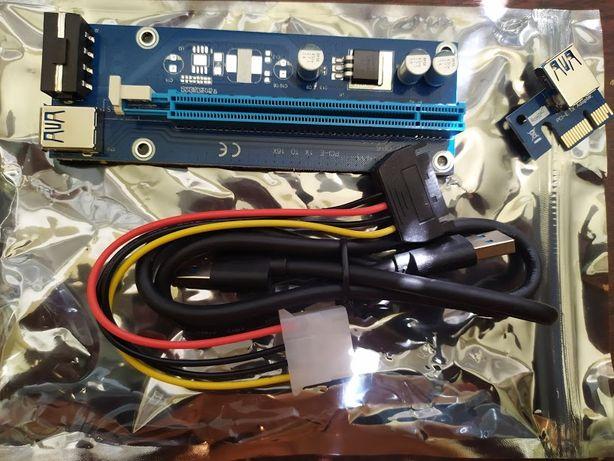 Райзер-Riser МЕЛКИМ ОПТОМ5ШТ-200ГРН5ver 006 molex usb 3.0 кабель 60 см