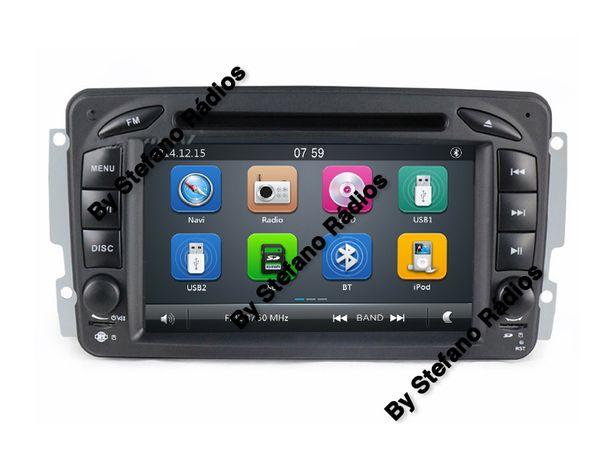 Auto Rádio GPS Mercedes Benz Class C - W203 & W209 - Kit Mãos livres