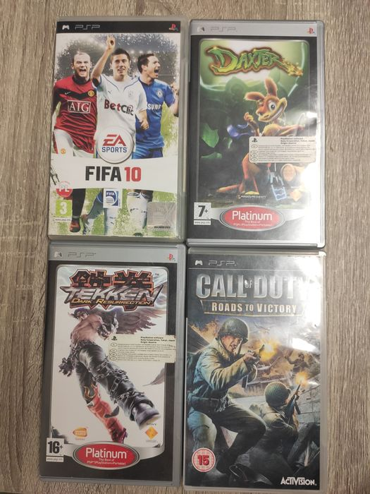 PSP Daxter, Call of Duty, Tekken, Fifa 10 Białystok - image 1